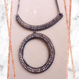 Black Diamond Statement Necklace